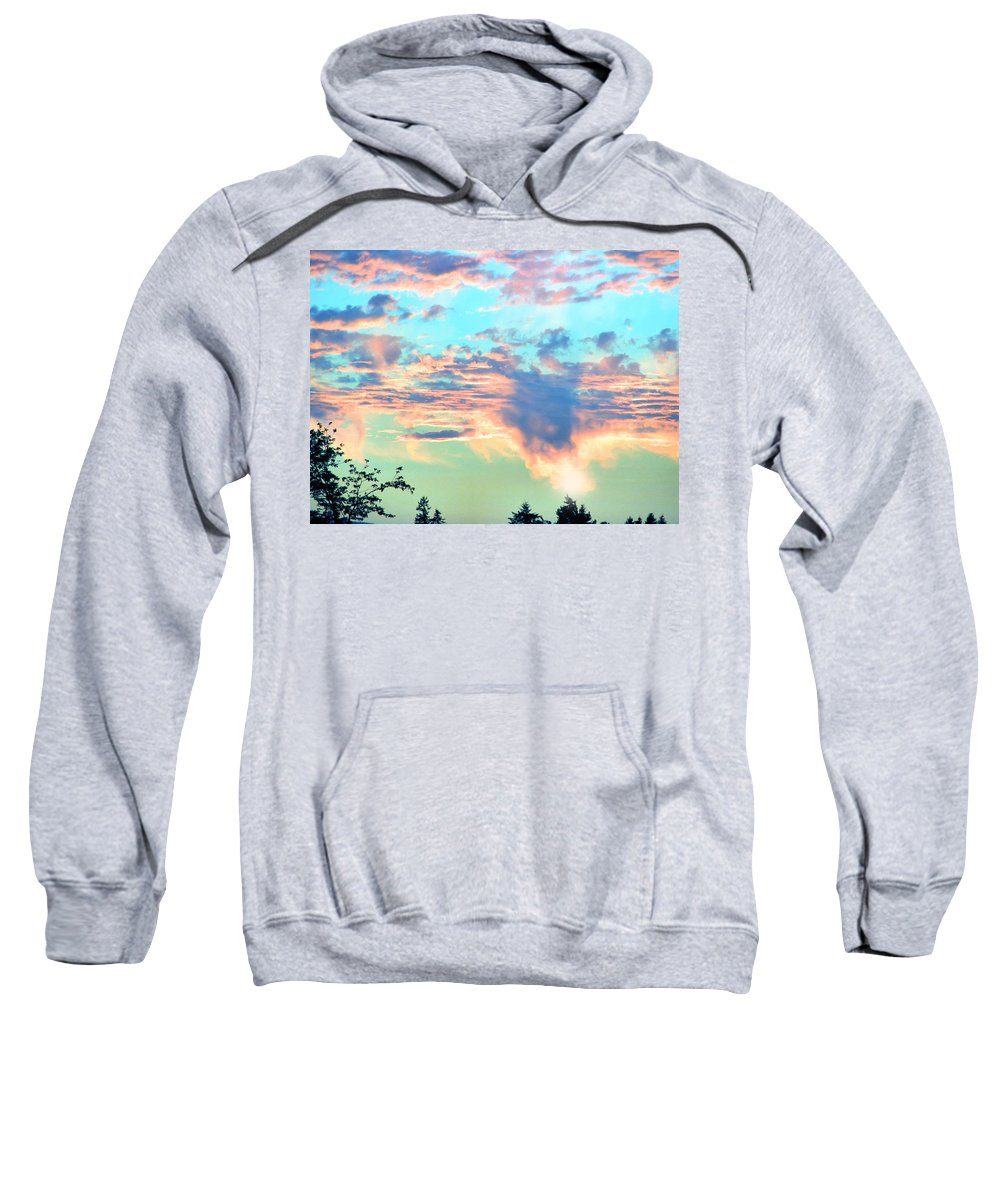 Sunset Sweatshirt featuring the photograph Parrish Sunset by Rory Sagner