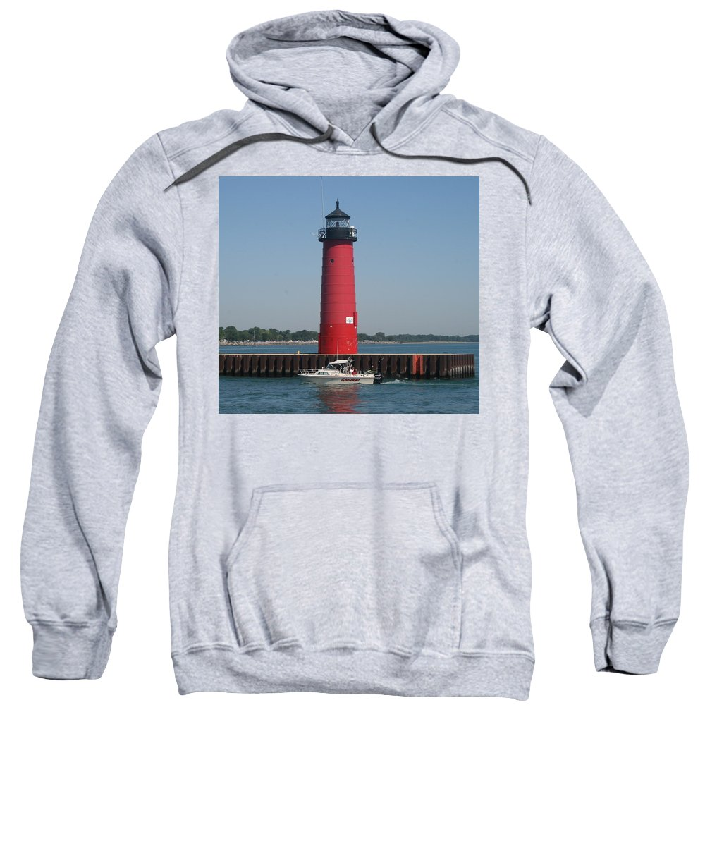 Pierhead Sweatshirt featuring the photograph Passing By by Kay Novy