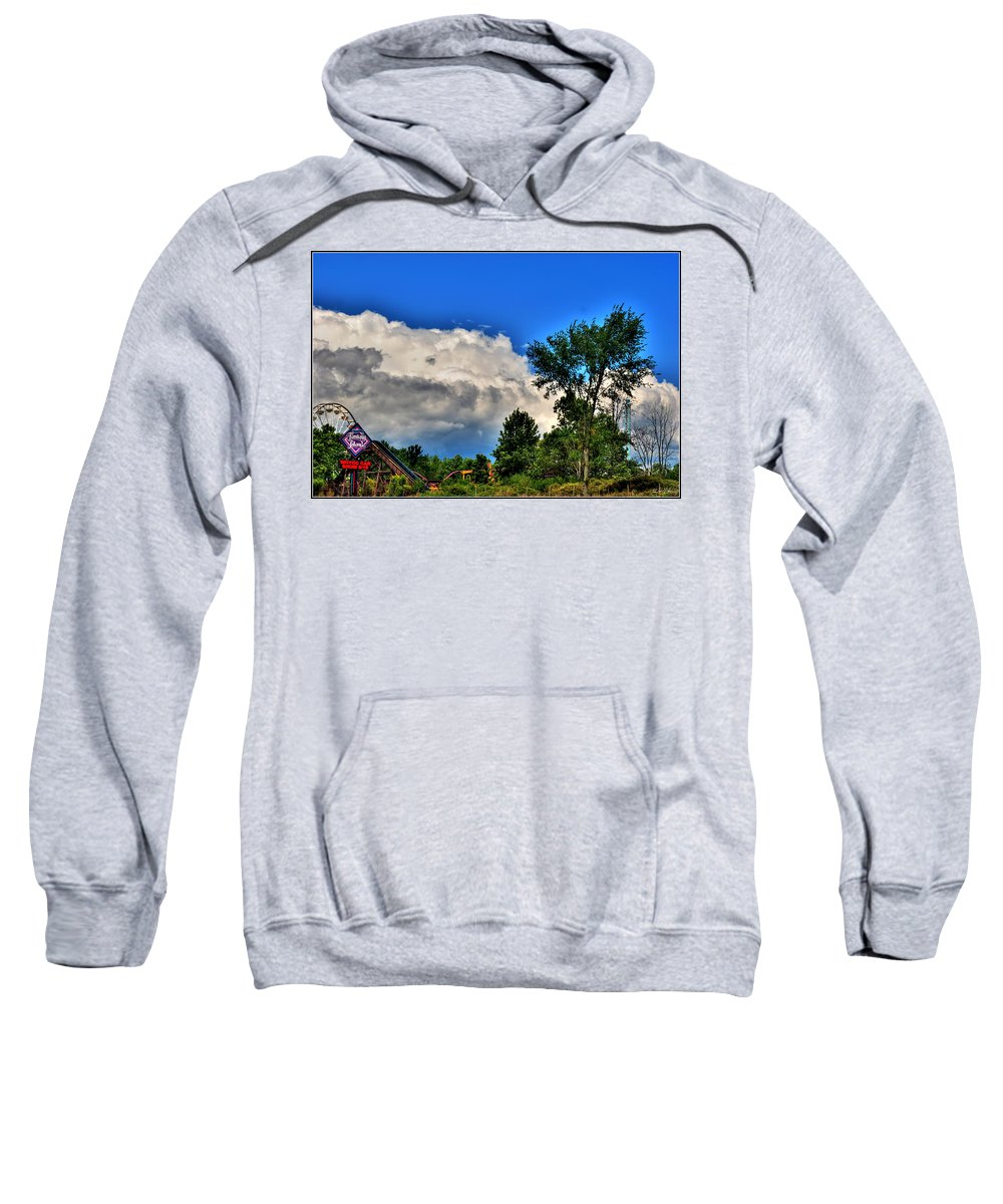 Sweatshirt featuring the photograph Passing Fantasy Island 55mph by Michael Frank Jr