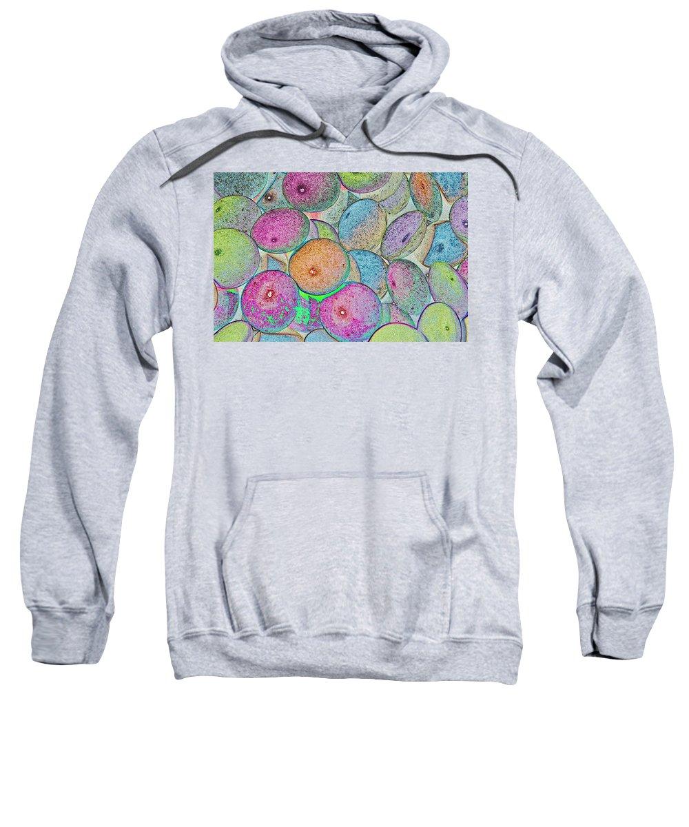 Smarties Sweatshirt featuring the digital art Pastal Art by David Pyatt