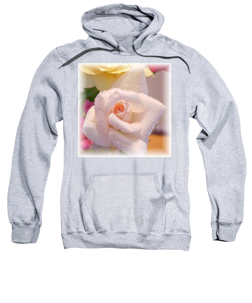 Rose Sweatshirt featuring the photograph Pastel Petals by Judy Hall-Folde