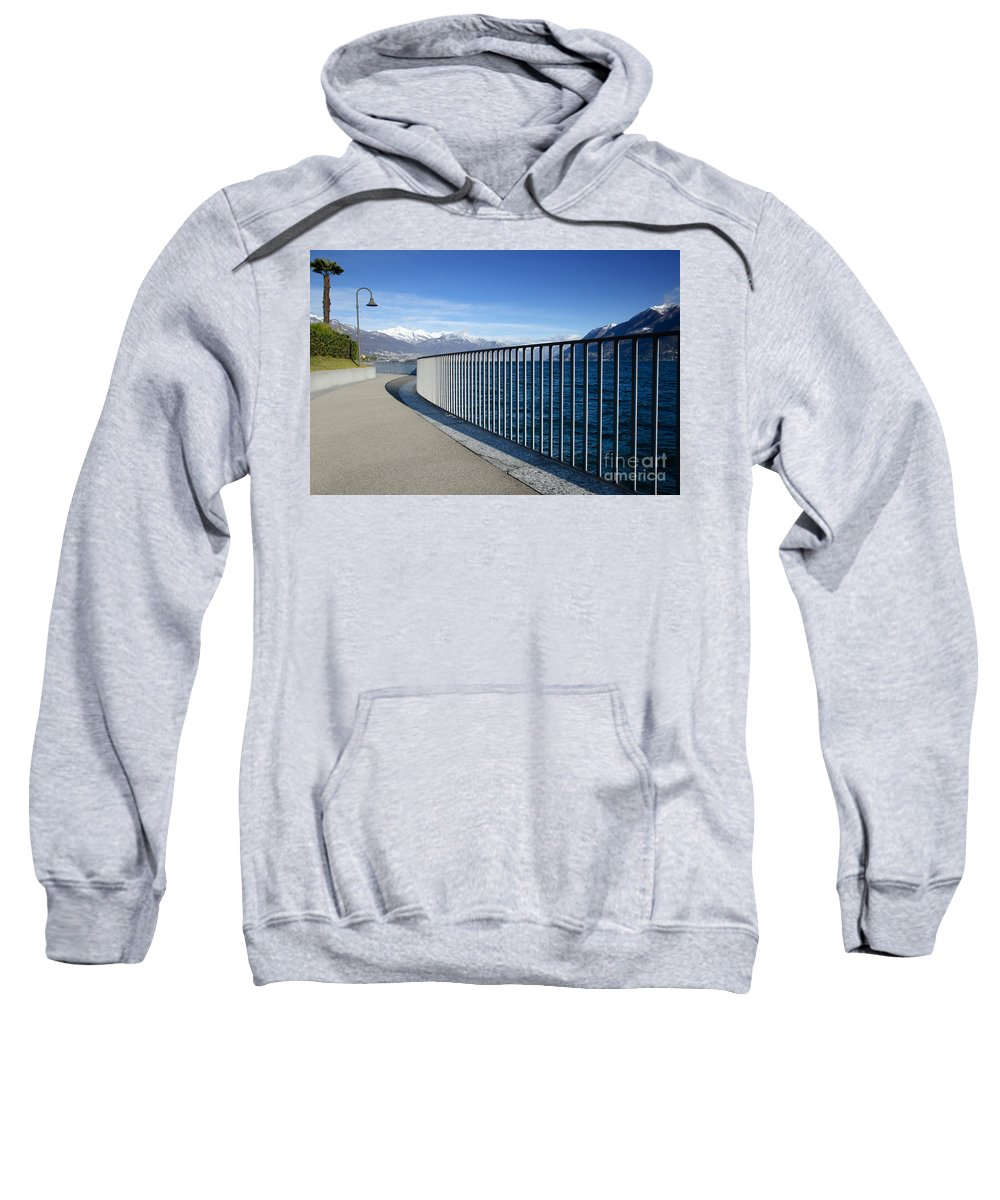Path Sweatshirt featuring the photograph Path On An Alpine Lakefront by Mats Silvan