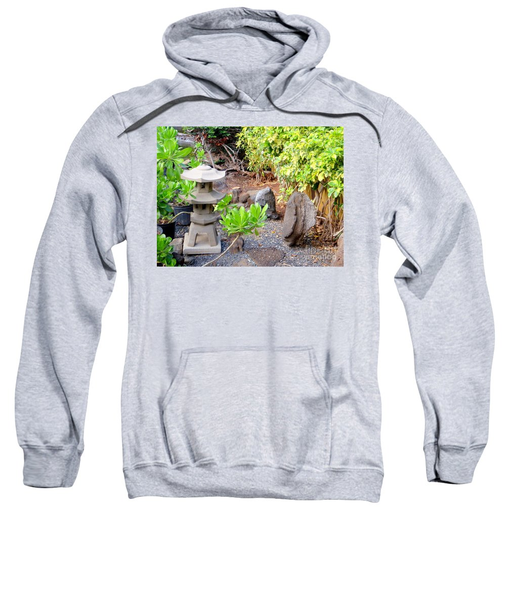 Garden Sweatshirt featuring the photograph Path To The Waterfall by Mary Deal