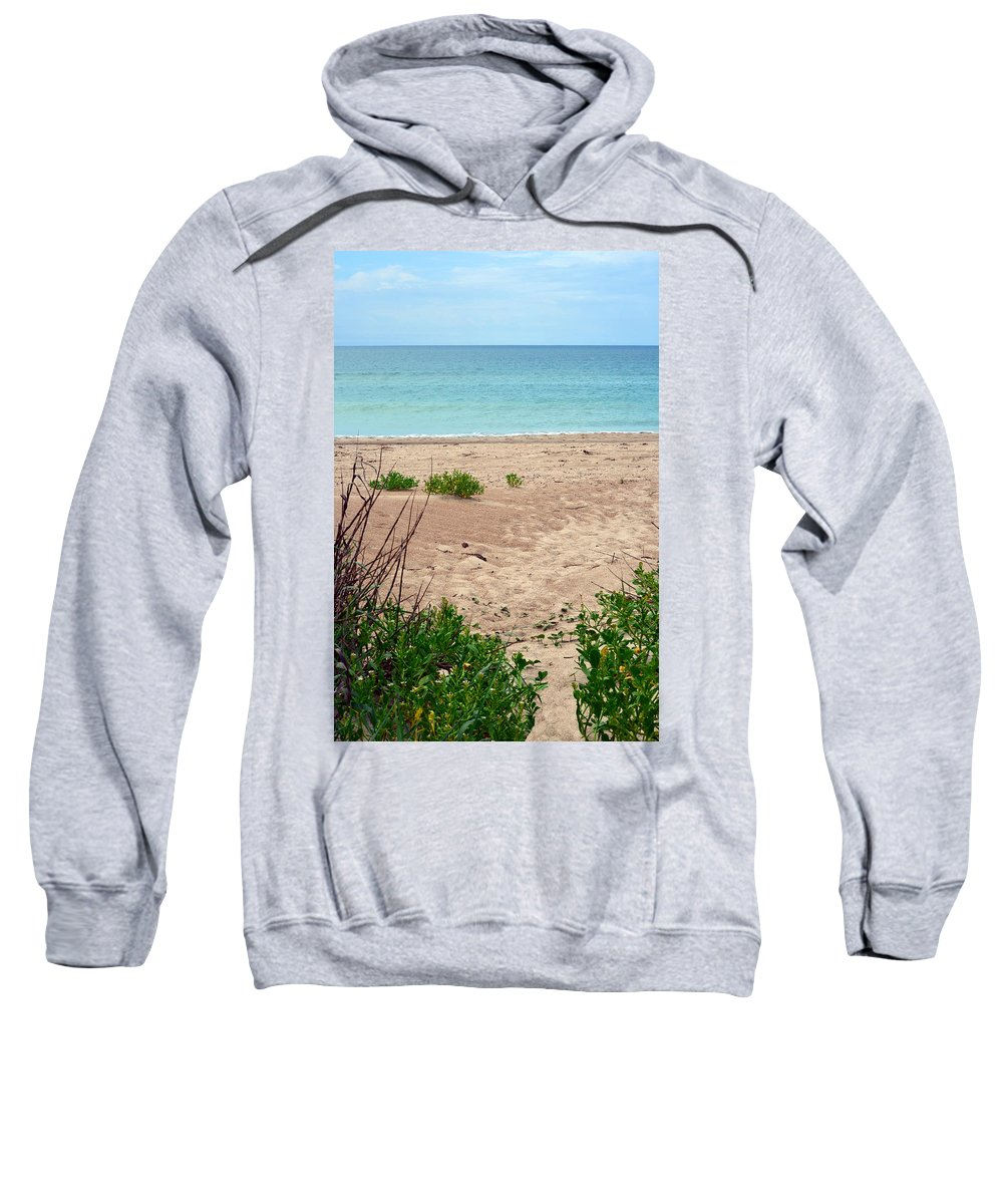 Beach Sweatshirt featuring the photograph Pathway To The Beach by Sandi OReilly