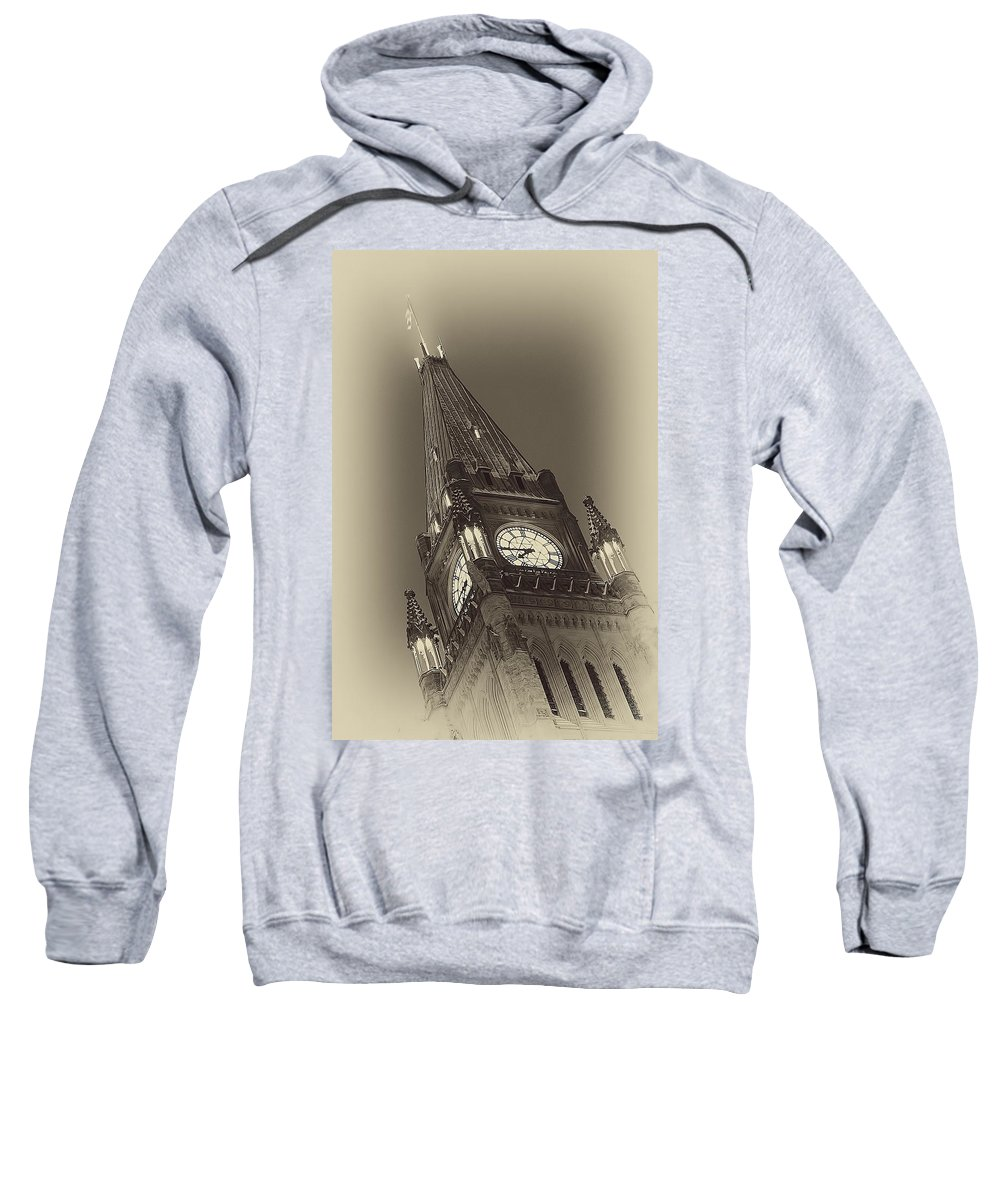 Ottawa Sweatshirt featuring the photograph Peace Tower by Eunice Gibb