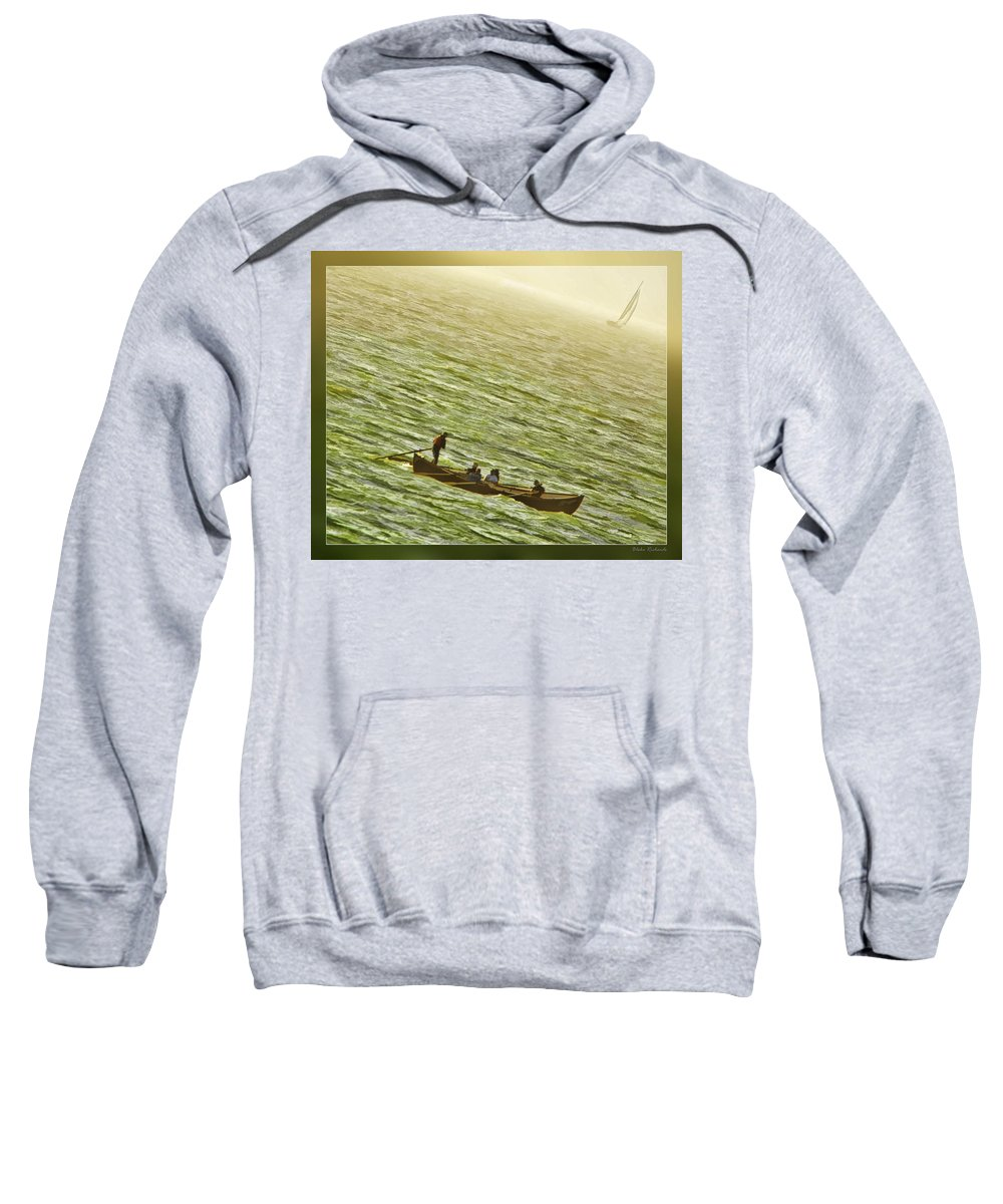 Boats Sweatshirt featuring the photograph Peaceful Rolling by Blake Richards
