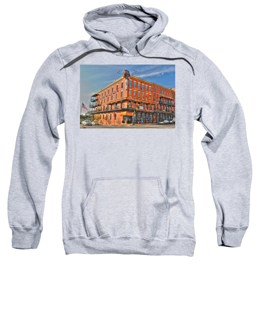 Sweatshirt featuring the photograph Pearl Street Brewery by Michael Frank Jr