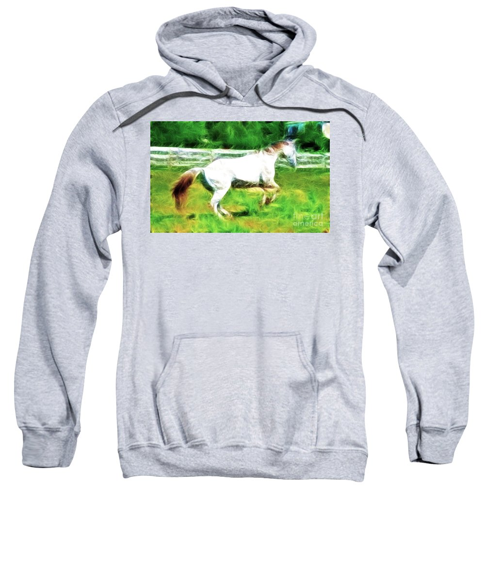 White Horse Sweatshirt featuring the photograph Pegasus Impression by Paul Ward
