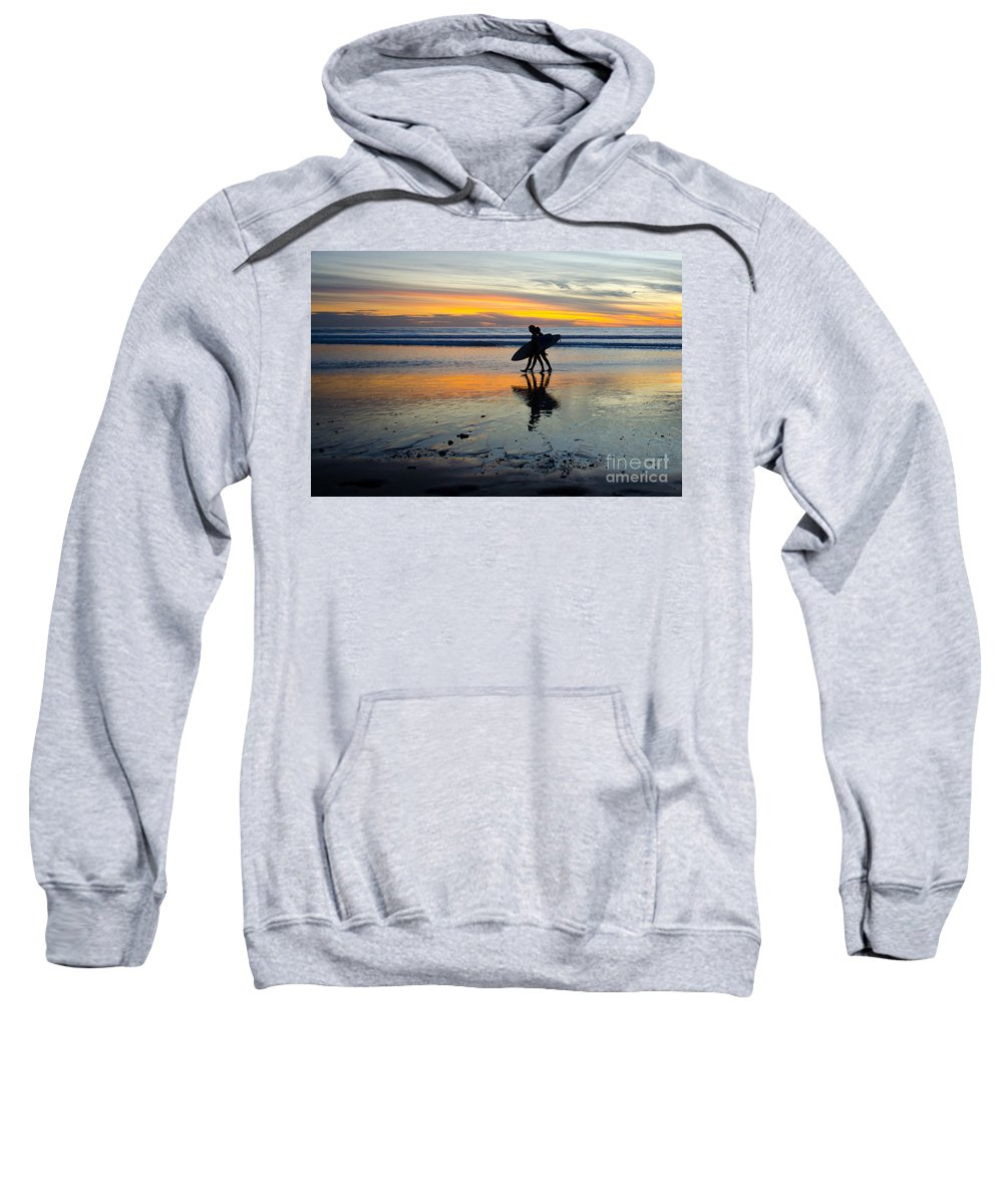 Sunset Sweatshirt featuring the photograph Perfect Day's End by Athena Lin