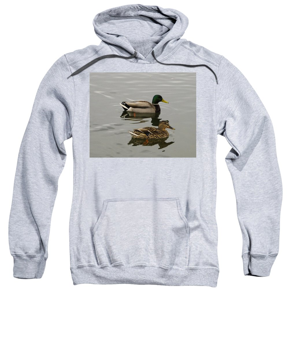 Ducks Sweatshirt featuring the photograph Perfect Pair by John Greaves