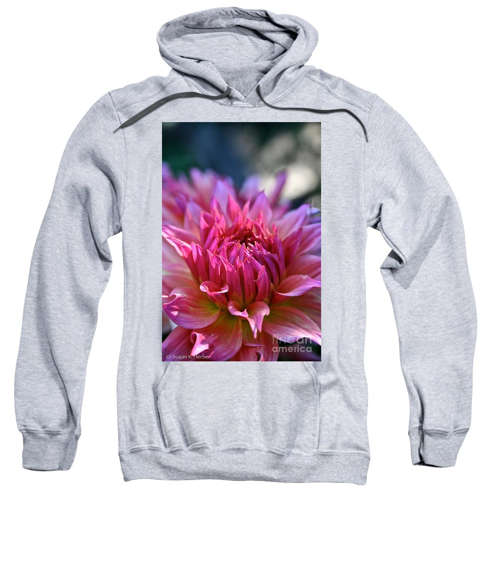 Outdoors Sweatshirt featuring the photograph Petal Motion by Susan Herber