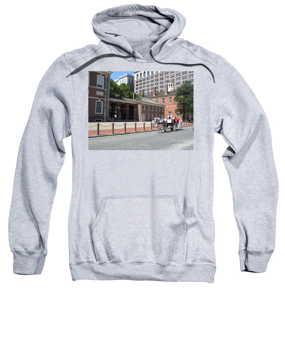 Philadelphia Sweatshirt featuring the photograph Philadelphia 01 by Ausra Huntington nee Paulauskaite