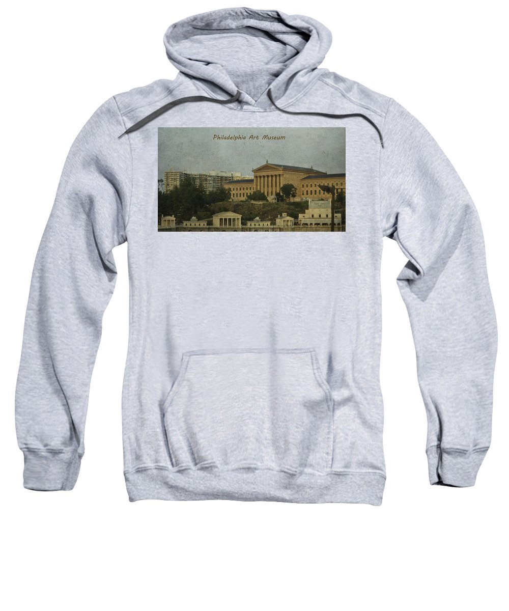 History Sweatshirt featuring the photograph Philadelphia Art Museum by Trish Tritz