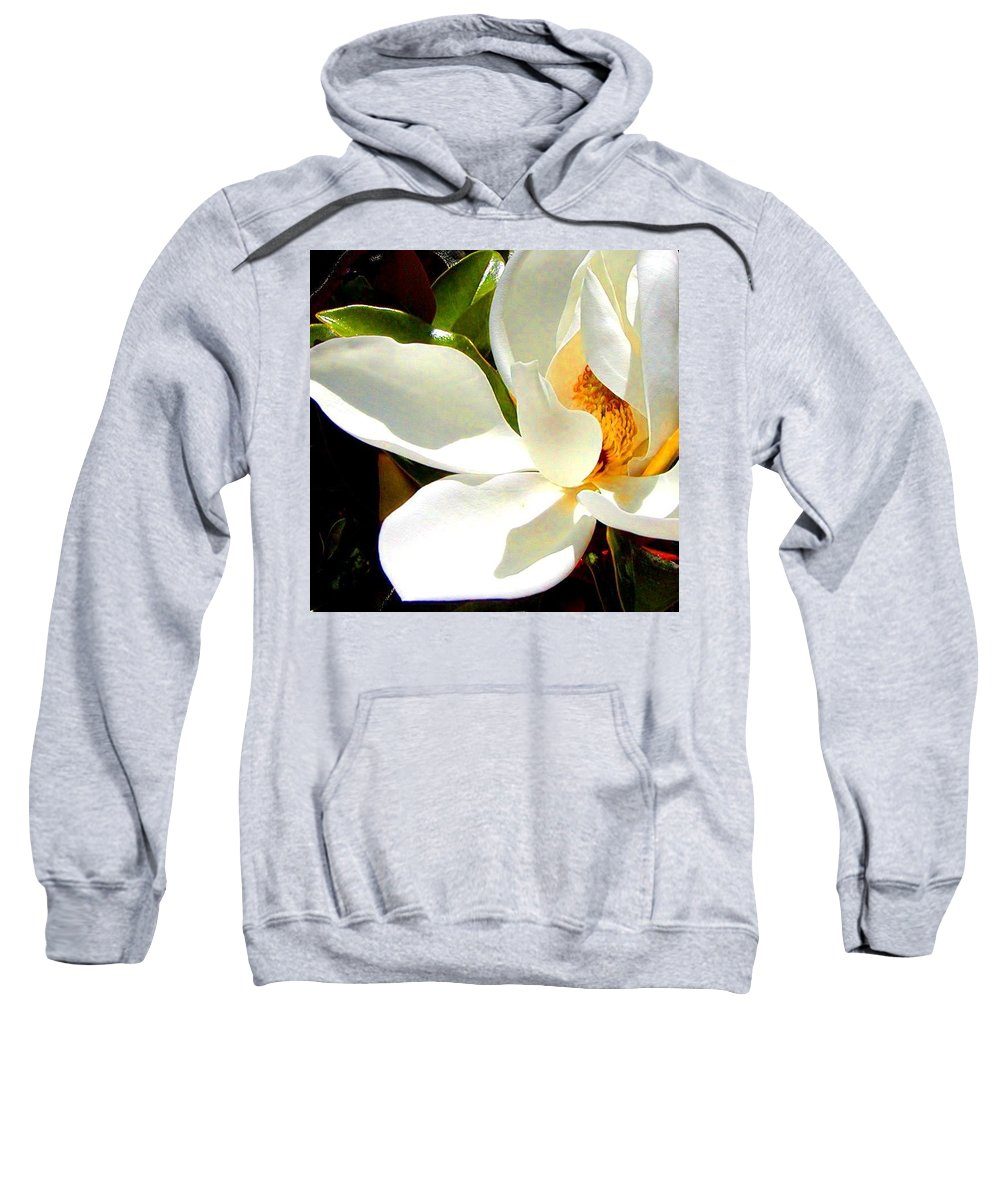 Roena King Sweatshirt featuring the photograph Photo For Sydneys Magnolia Painting by Roena King