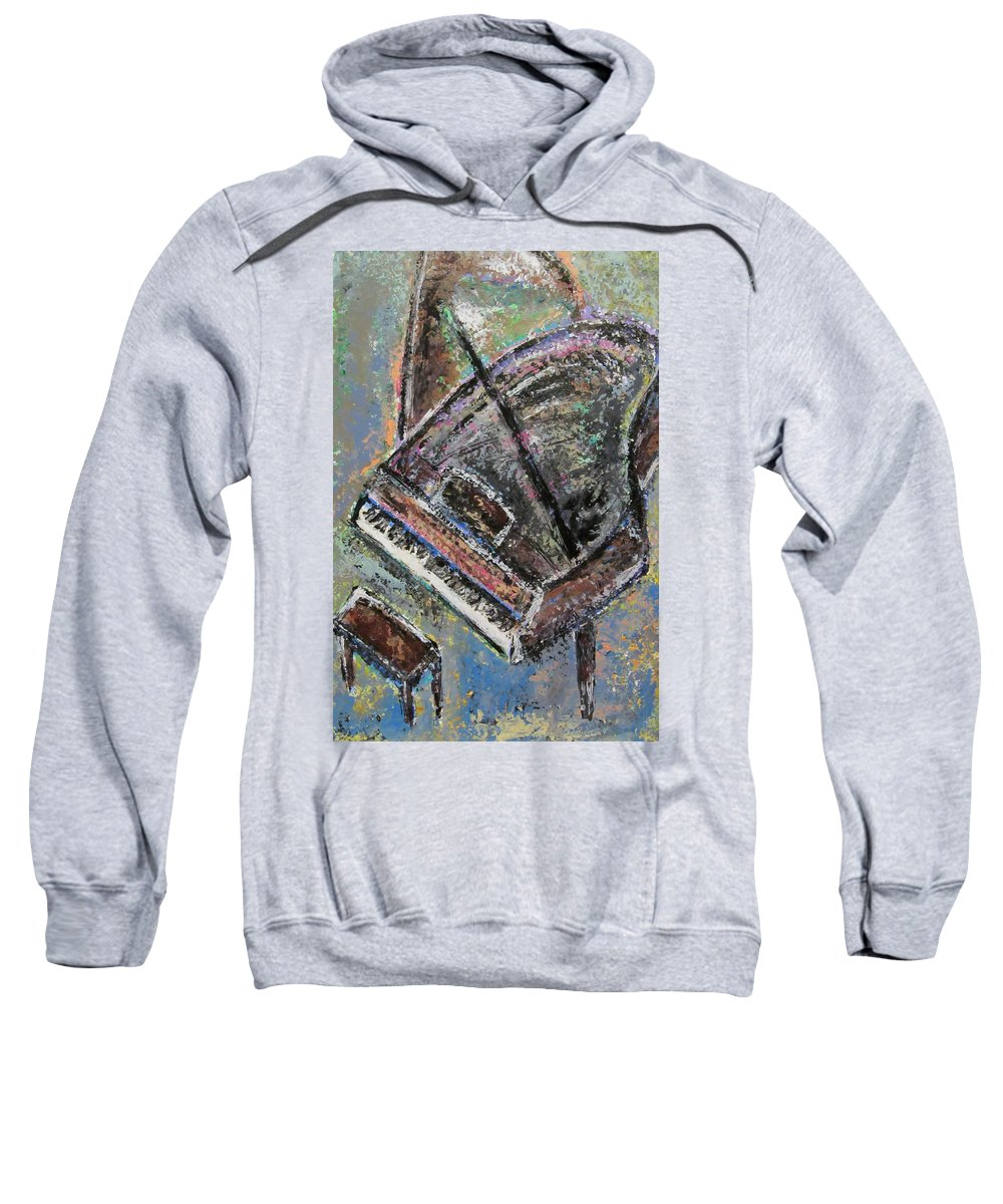 Impressionist Sweatshirt featuring the painting Piano Study 9 by Anita Burgermeister