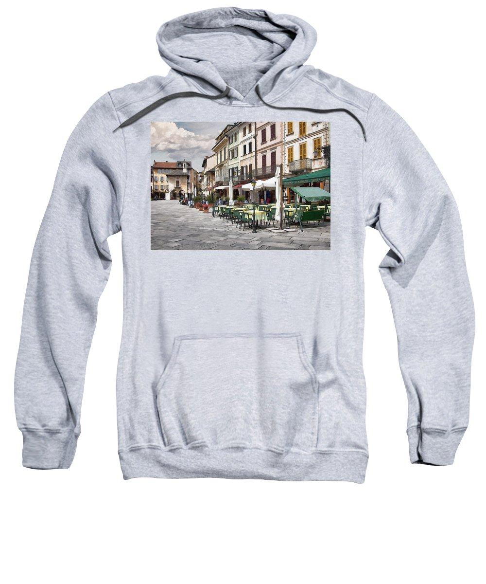 Piazza Sweatshirt featuring the digital art Piazza San Guilio by Sharon Foster