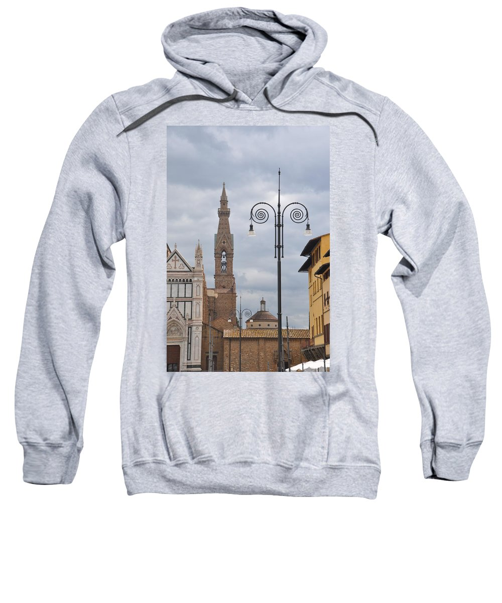 Italy Sweatshirt featuring the photograph Piazza Santa Croce by Rich Bodane