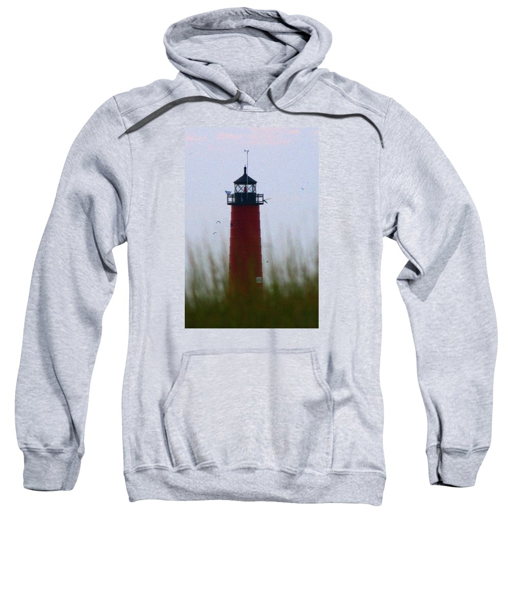 Lighthouse Sweatshirt featuring the photograph Pierhead Lighthouse by Kay Novy