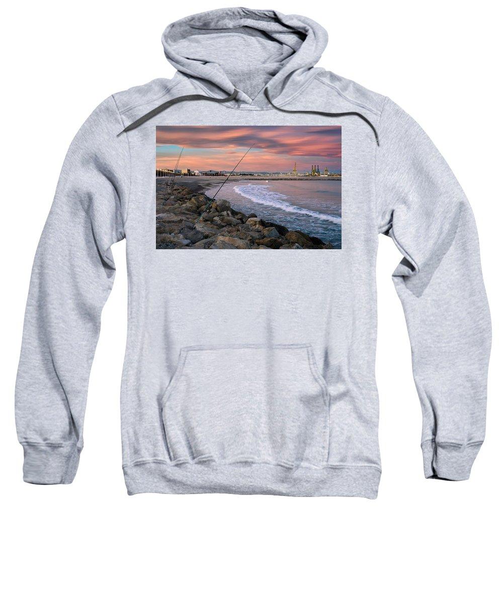 Pinedo Beach Sweatshirt featuring the photograph Pinedo. Valencia. Spain by Juan Carlos Ferro Duque