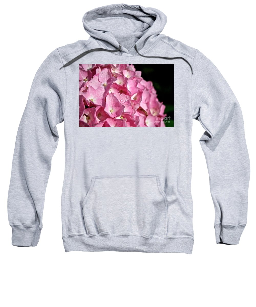 Floral Sweatshirt featuring the photograph Pink Diamonds by Susan Herber