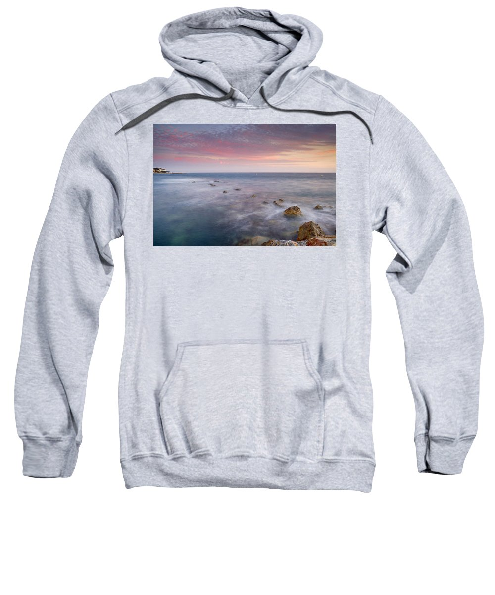 Pink Sweatshirt featuring the photograph Pink Seasunset by Guido Montanes Castillo