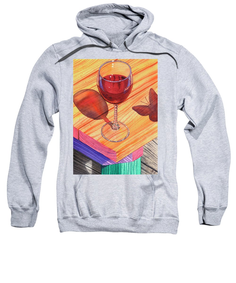 Wine Sweatshirt featuring the painting Pinot Noir by Catherine G McElroy