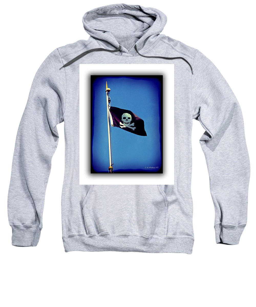 2d Sweatshirt featuring the photograph Pirate Flag by Brian Wallace