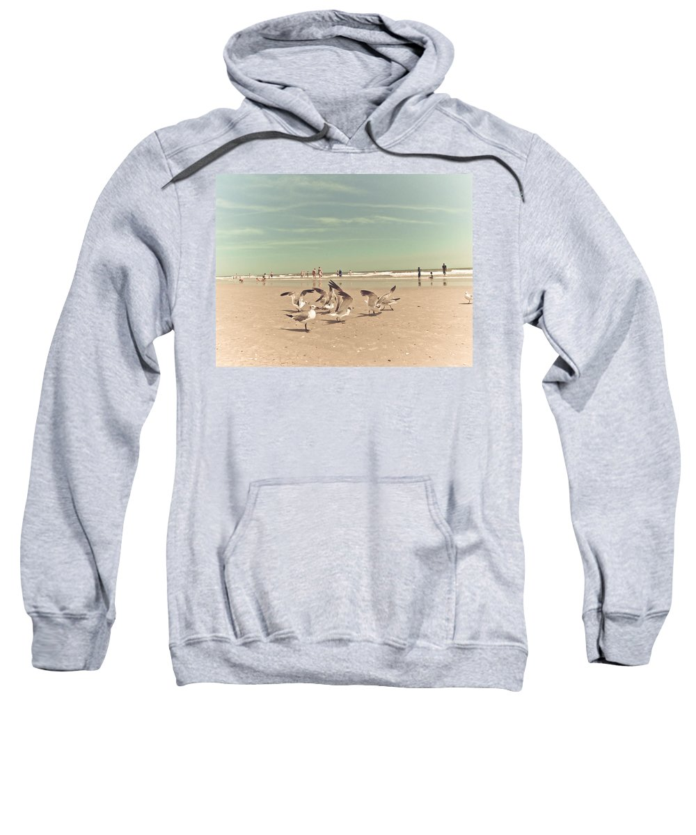 Seagulls Sweatshirt featuring the photograph Playdate by Jessica Brawley