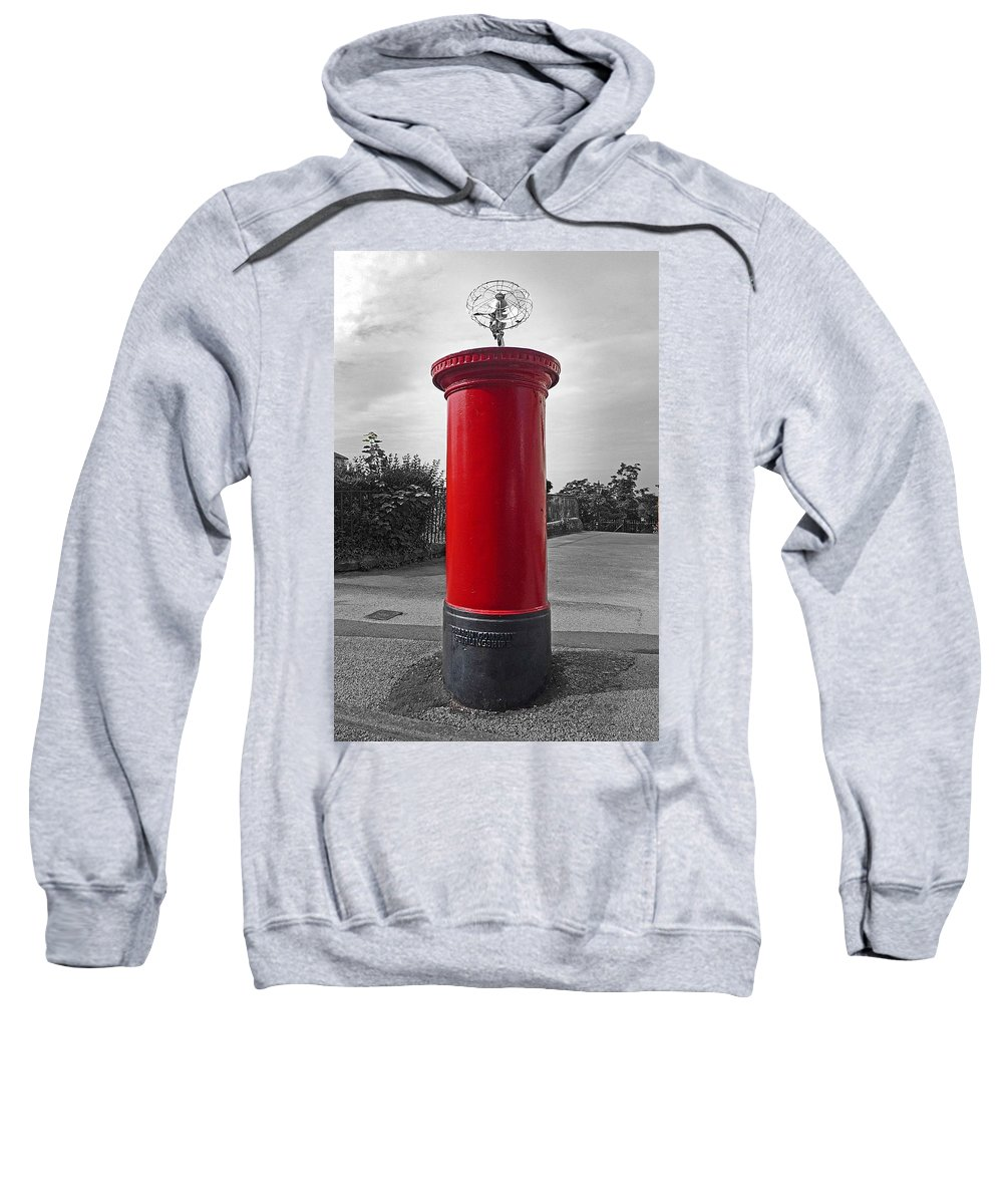 Fan Sweatshirt featuring the photograph Post by Charles Stuart