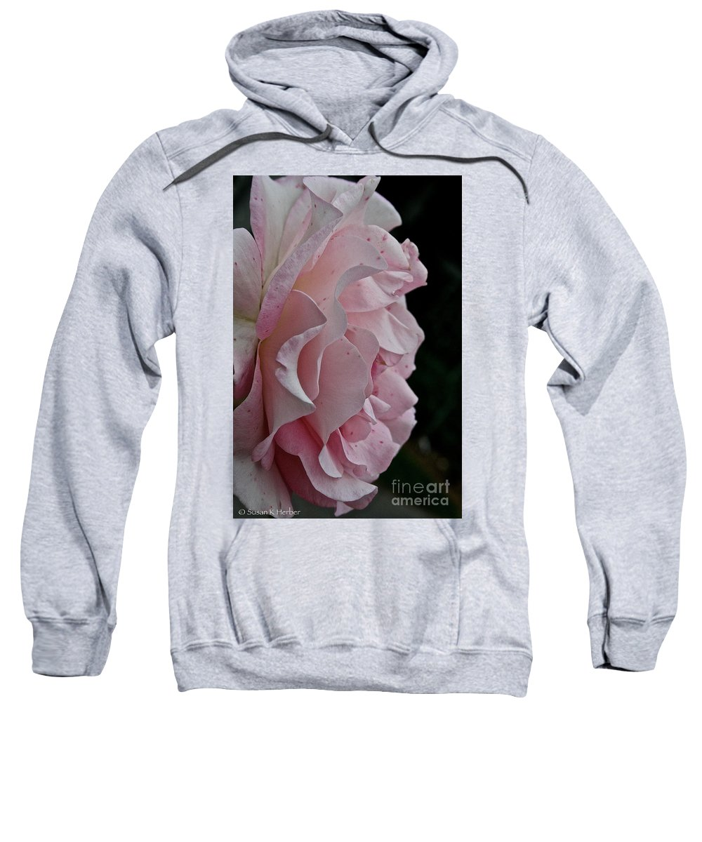 Floral Sweatshirt featuring the photograph Powder Puff Pink by Susan Herber