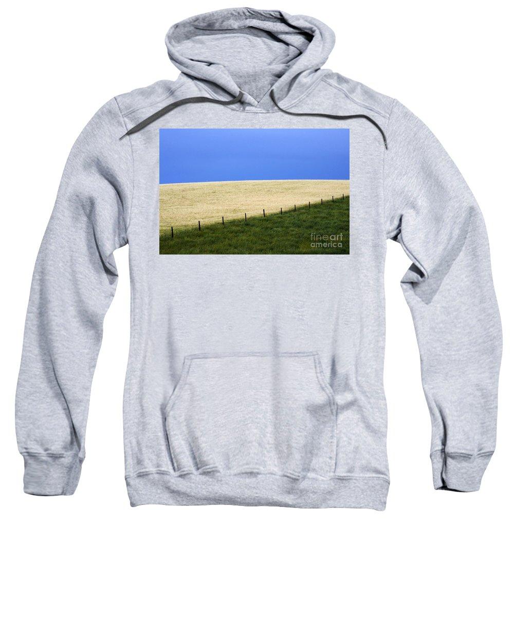Farming Sweatshirt featuring the photograph Prairie Horizon by Bob Christopher