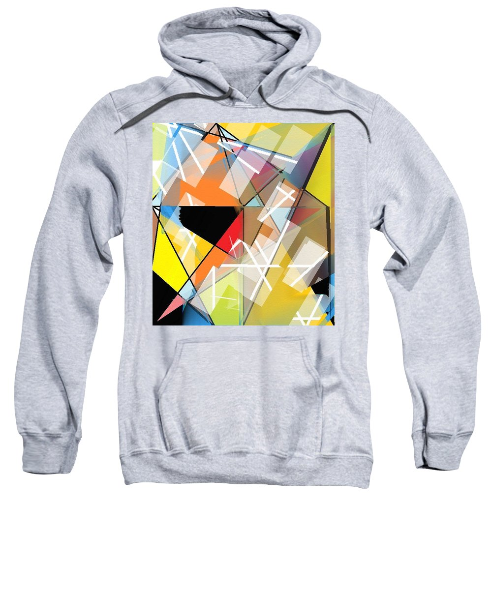 Sweatshirt featuring the digital art Prismas by Ana Almeida