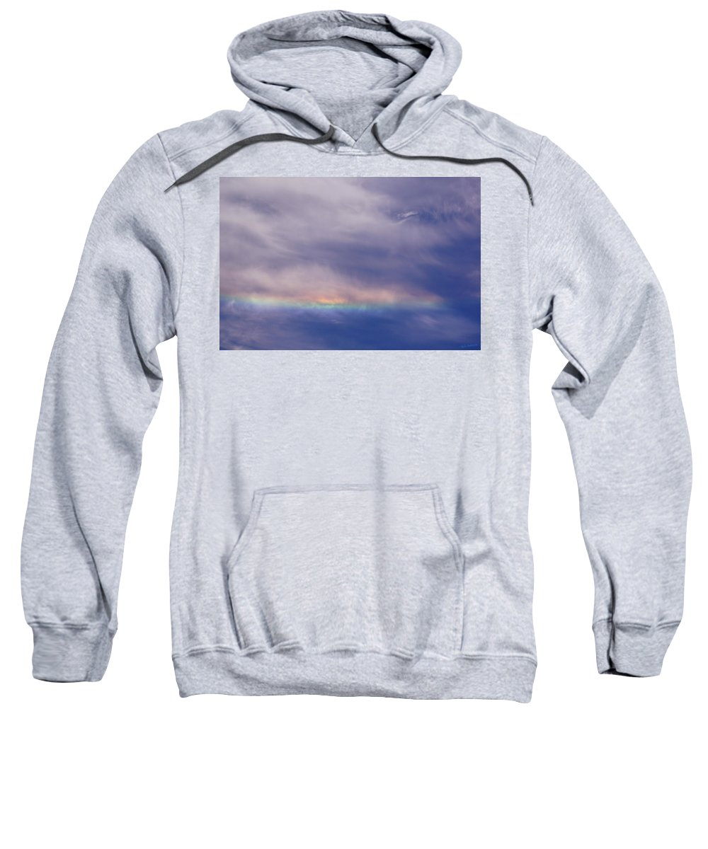 Prismatic Sweatshirt featuring the photograph Prismatic Color In The Sky by Mick Anderson