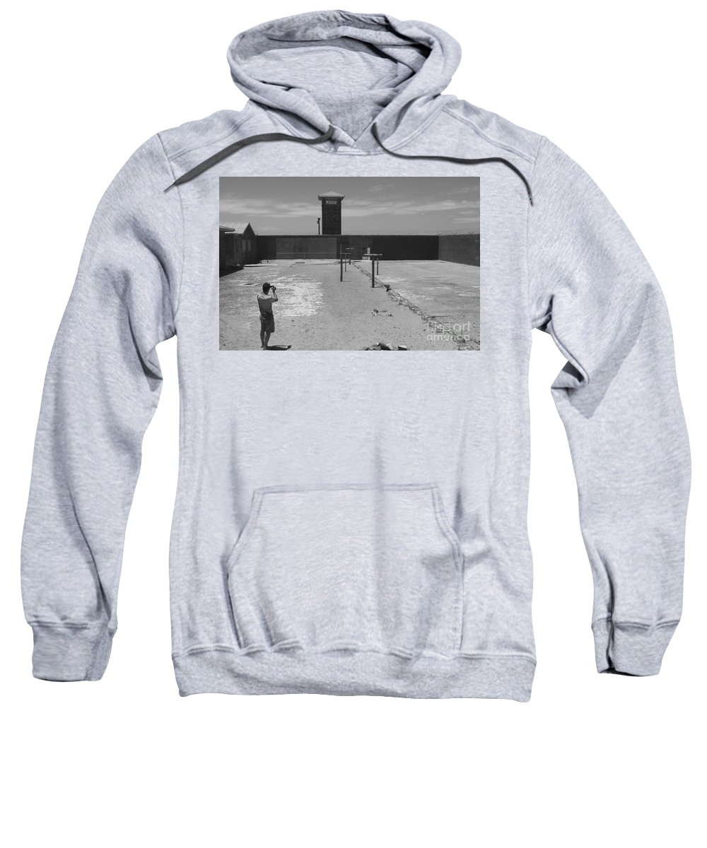 Robben Island Sweatshirt featuring the photograph Prison Yard by Aidan Moran