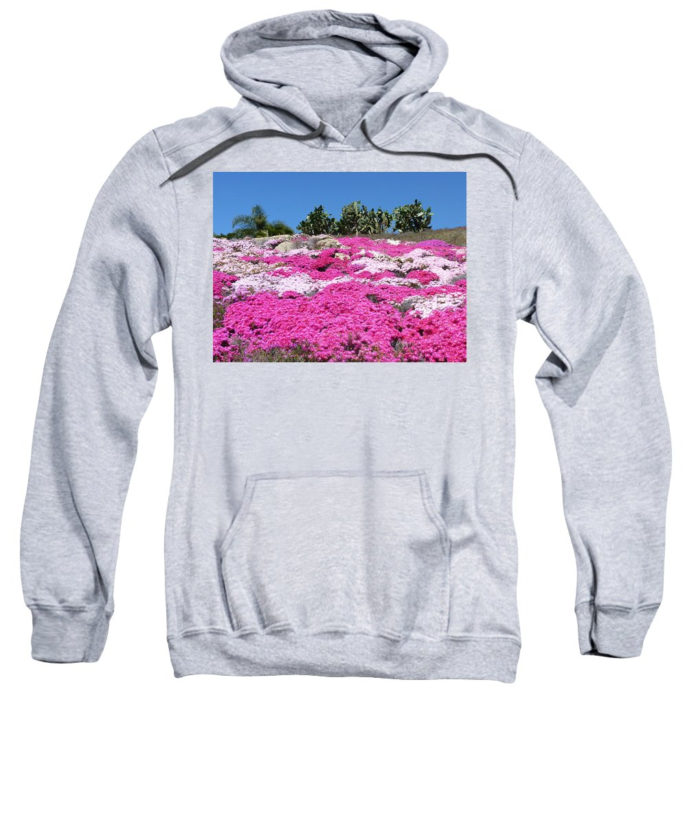 California Sweatshirt featuring the photograph Profusion Of Pink by Carla Parris