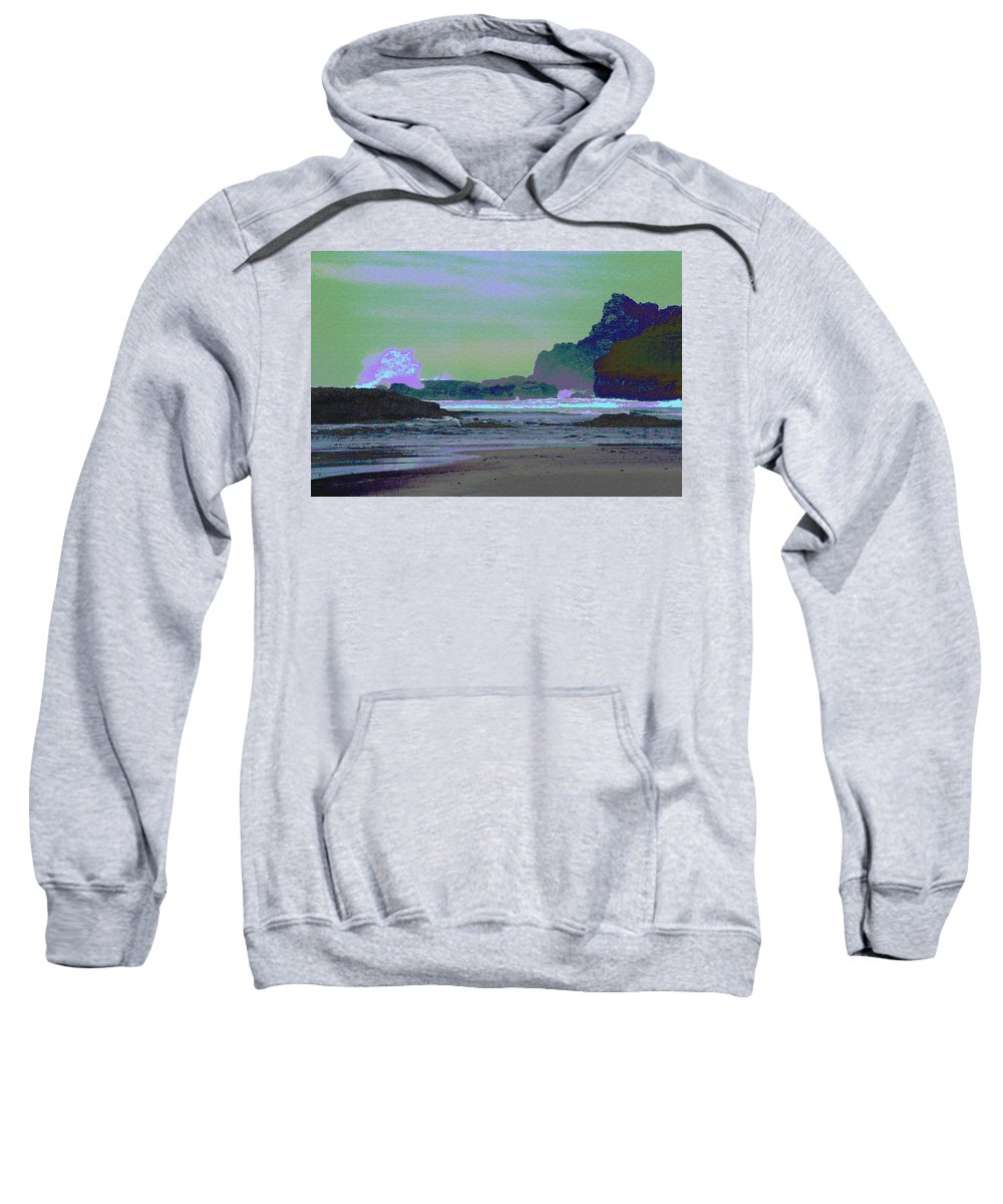 Abstract Sweatshirt featuring the photograph Psychedelic Splash by One Rude Dawg Orcutt