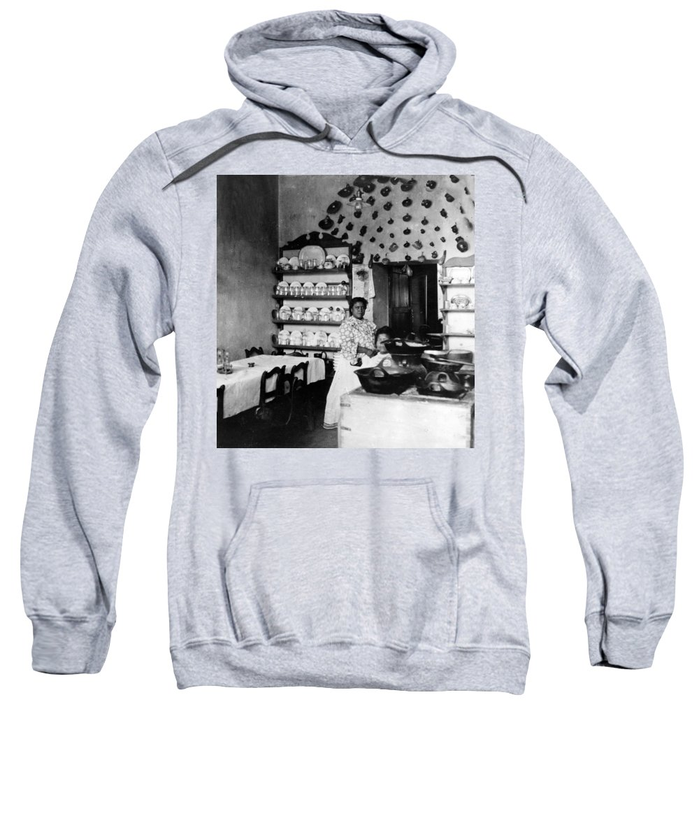 Mexico Sweatshirt featuring the photograph Puebla Mexico - Restaurant - C 1908 by International Images