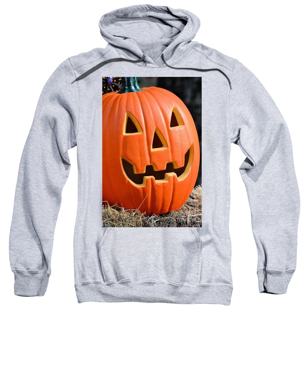Pumpkin Bright Sweatshirt featuring the photograph Pumpkin Bright by Maria Urso