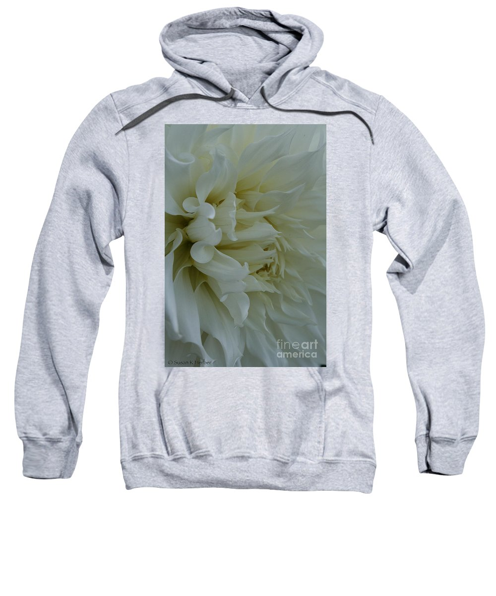 Landscape Sweatshirt featuring the photograph Pure Dahlia by Susan Herber
