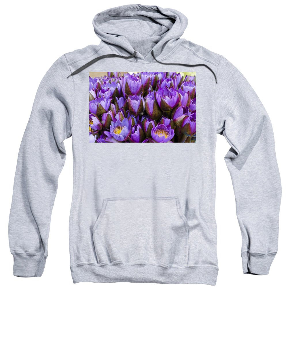Flower Sweatshirt featuring the photograph Purple Lotus by Michele Burgess