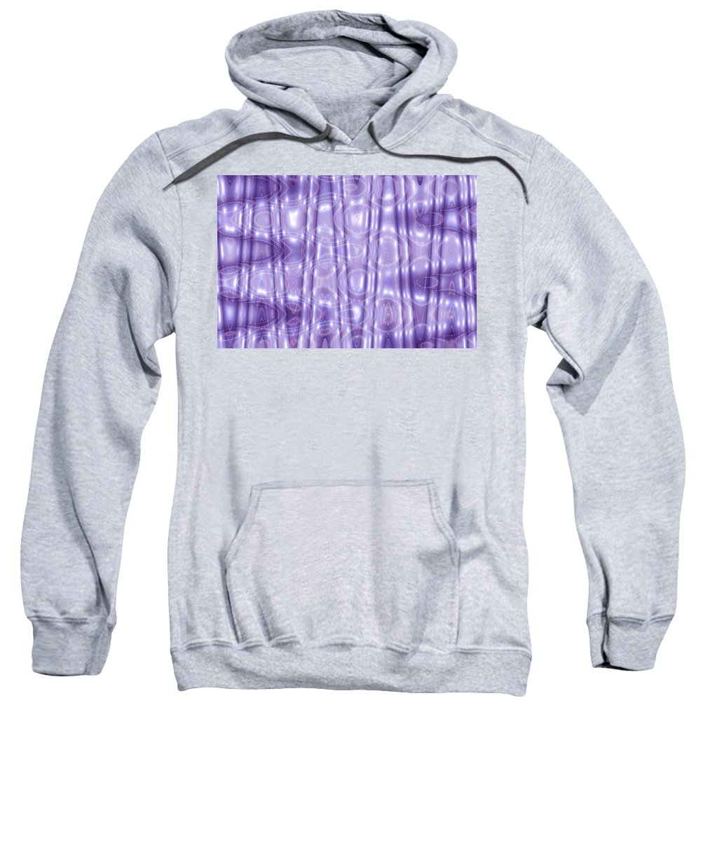 Moveonart! Global Gathering. Branch purplenotions -- Digital Abstract Art By Artist Jacob Kane Kanduch -- Omnetra Sweatshirt featuring the digital art Purplenotions by Jacob Kanduch