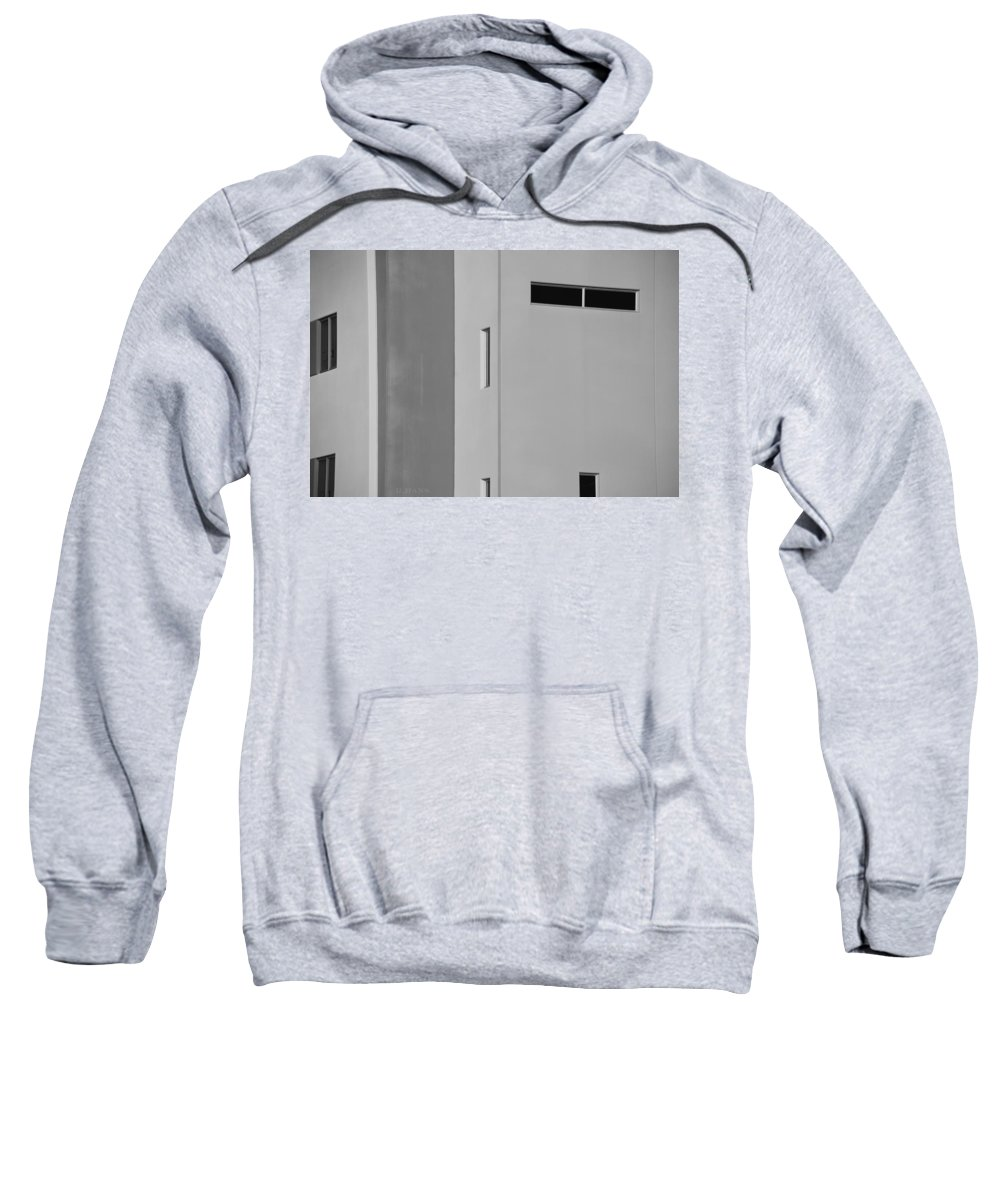 Architecture Sweatshirt featuring the photograph Q W School In Black And White by Rob Hans