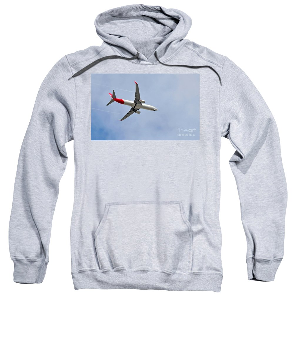 Photography Sweatshirt featuring the photograph Qantas Heading Home by Kaye Menner