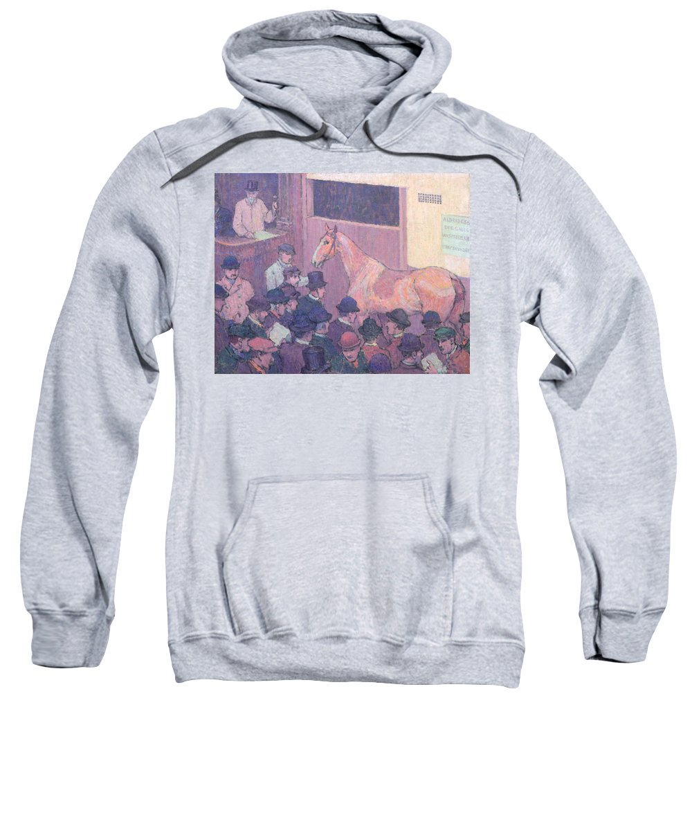 Xyc153925 Sweatshirt featuring the photograph Quiet With All Road Nuisances by Robert Polhill Bevan