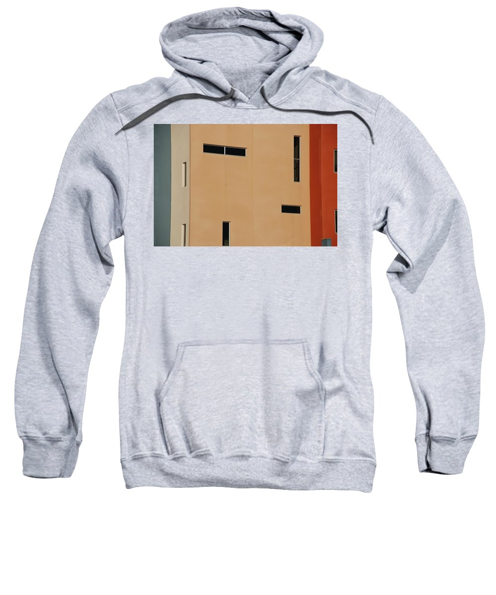 Architecture Sweatshirt featuring the photograph Qw School In Colors by Rob Hans