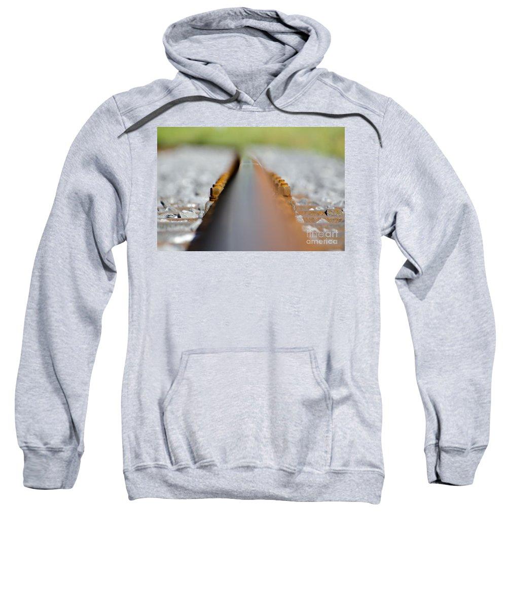 Railroad Tracks Sweatshirt featuring the photograph Railroad Tracks by Mats Silvan