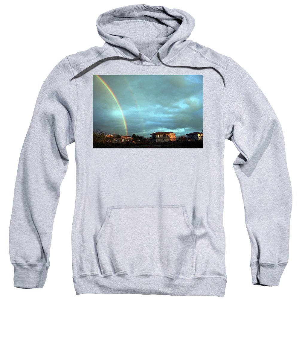 Italy Sweatshirt featuring the photograph Rainbow Calabrese by La Dolce Vita