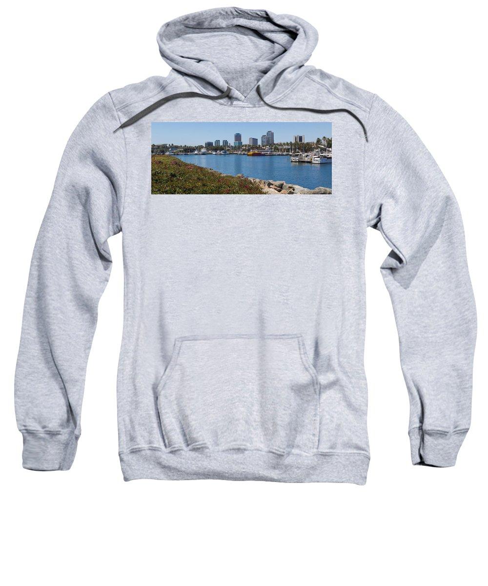 Smith Sweatshirt featuring the photograph Rainbow Harbor by Heidi Smith
