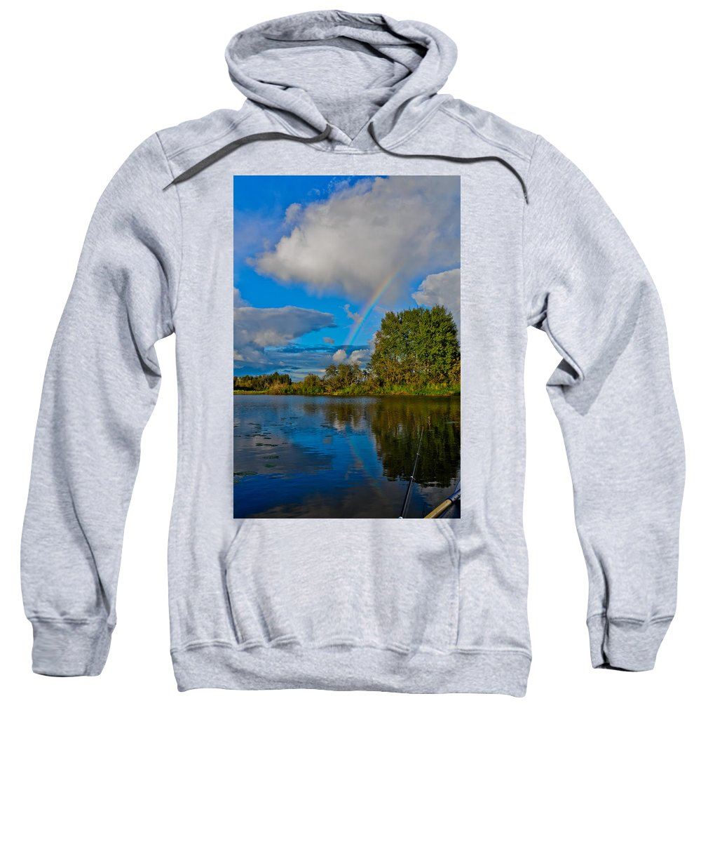 Like Sweatshirt featuring the photograph Rainbow by Michael Goyberg