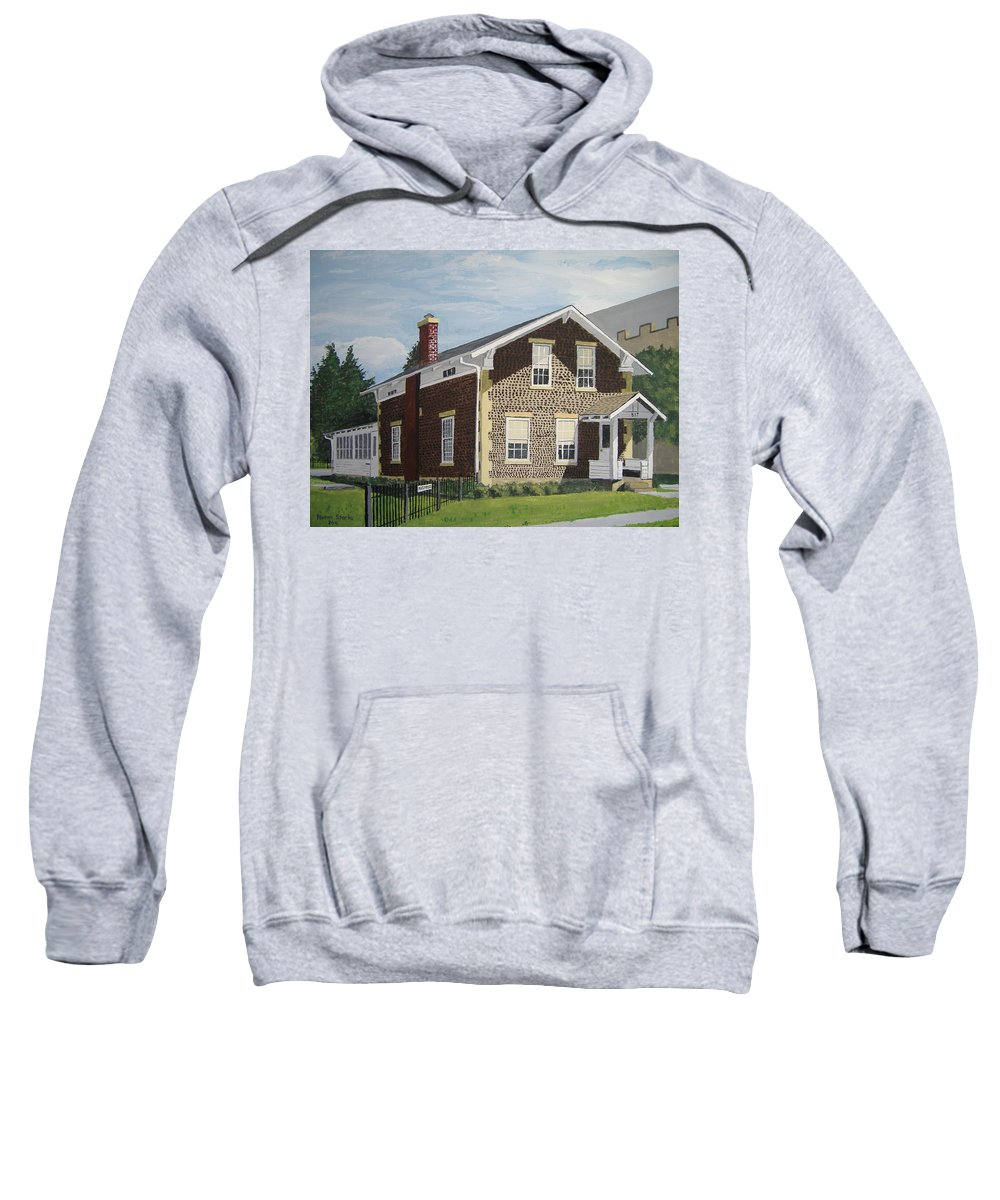 Historical Sweatshirt featuring the painting Rasey House by Norm Starks